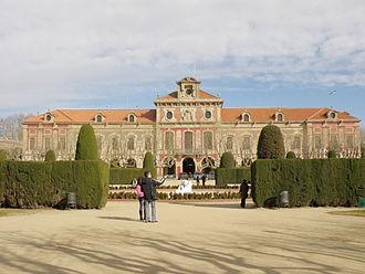 Palau del Parlament de Catalunya - West façade of the palace