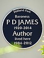 Baroness P D James 1920-2014 Author lived here 1984-2012.jpg