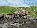 Basalt outcrop on the beach - wider view - geograph.org.uk - 1368033.jpg
