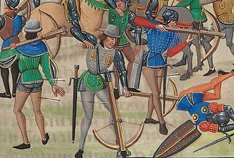 Genoese crossbowmen - Genoese crossbowmen during Battle of Crécy