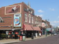 Photograph of historic Beale Street buildings in 2006.