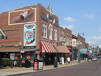 Beale Street, showing King's Palace Cafe, Beal...