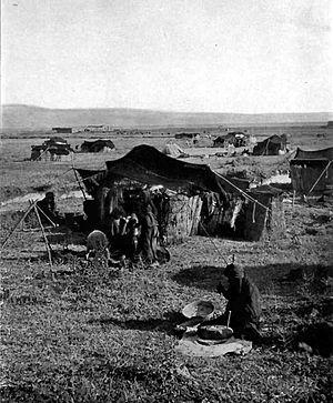 Bedouin_tents, Palestine 1912