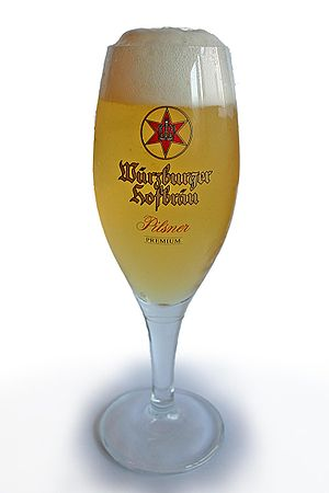 "Glas of german ""Würzburger Hofbräu"" ..."