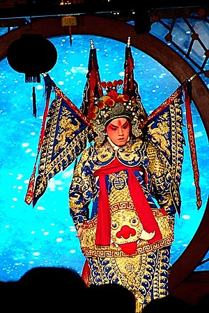 History of cosmetics - A Beijing opera performer with traditional stage make up.