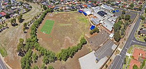 Hoppers Crossing, Victoria - Aerial perspective of Bellbridge Primary School in Hoppers Crossing