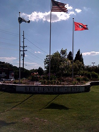 Bellevue, Tennessee - Image: Bellevue TN Don Johnson Memorial Garden