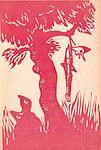 """Benito Albi Bachini. Illustrazione per l'edizione del 1944 (Libreria editrice Paci """"La Tifernate""""). Pinocchio impiccato alla quercia grande.jpg"""
