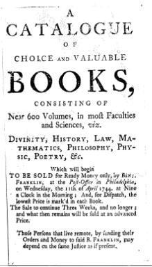 Benjamin Franklin, Catalogue of Books.djvu