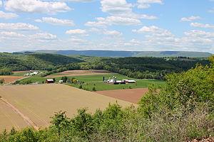 Benton Township, Columbia County, Pennsylvania - Benton Township northeast of Benton and looking northwest
