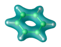 Benzene density isosurface.png
