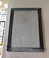 Berden St Nicholas interior - 23 Joseph Hammond plaque.jpg