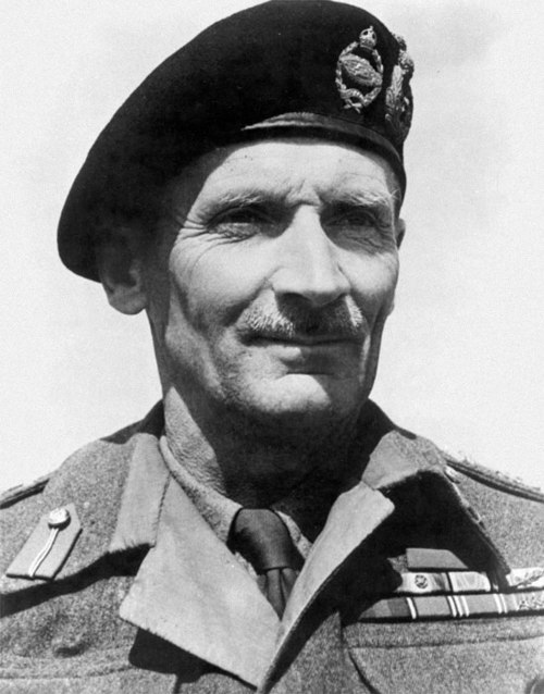 2bf88d1d57745 Field Marshal Montgomery wearing his black beret