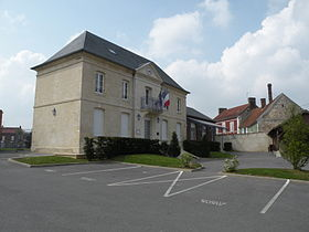 La mairie de Berthecourt