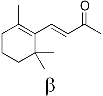 Ionone - Image: Beta ionone label