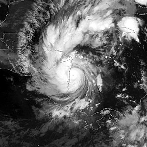 Hurricane Beta - Hurricane Beta at peak intensity shortly before landfall on October 30