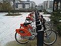 Bicloo bikes under the snow, Nantes (Waldeck-Rousseau).jpg