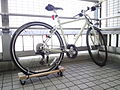Bicycle with 4-wheeled dolly on at Rainbow Promenade in 2011.jpg