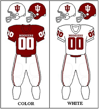 Indiana Hoosiers football - Image: Big Ten Uniform Indiana 2011