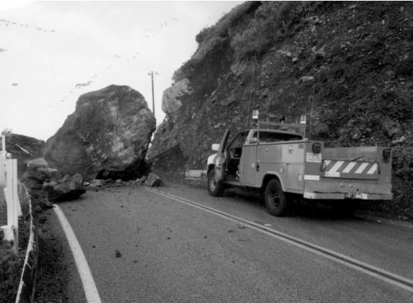 Big Sur landslide Feb 1994