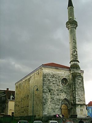 Croat Muslims - Fethija, a mosque located in the Bosnian city of Bihać, originally a church built in 1266 and one of the few European Islamic places of worship in the Gothic architectural style.
