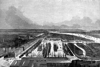 London Docks - A birdseye view dated 1845