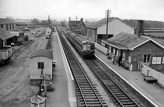 Bishops Lydeard railway station - View towards Norton Fitzwarren in 1963