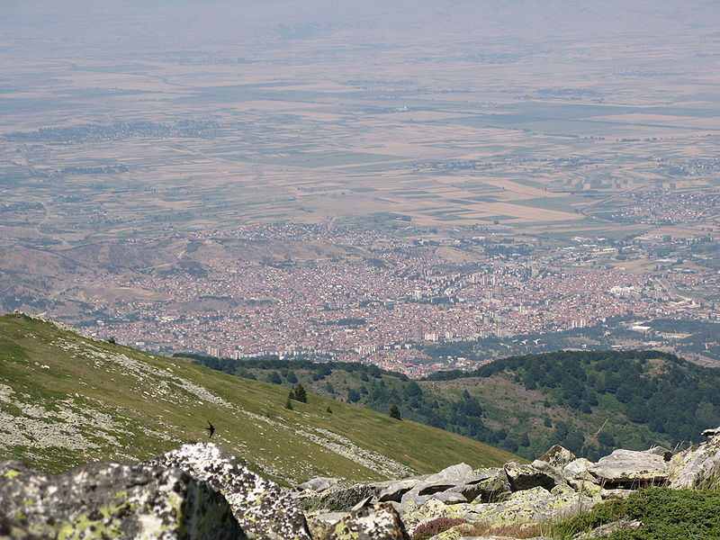 Bitola seen from Baba mountain,Macedonia.