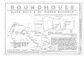 Black Hills and Fort Pierre Railroad Roundhouse, Terraville Avenue and Sunnyhill Road, Lead, Lawrence County, SD HAER SD-52 (sheet 1 of 3).png