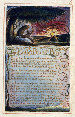 The Little Black Boy - Blake's first plate of The Little Black Boy