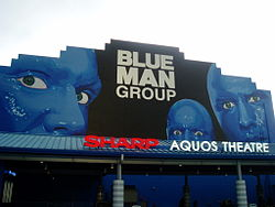 Blue Man Group - Sharp Aquos Theatre.JPG