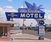 Blue Swallow Motel sign from W 1.JPG