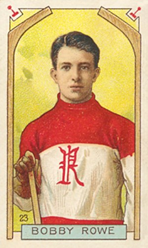 Bobby Rowe (ice hockey) - Rowe with the Renfrew Creamery Kings on a 1911 Imperial Tobacco hockey card