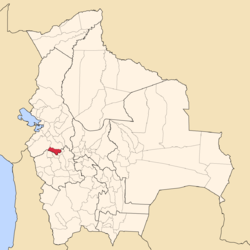 Location of Gualberto Villarroel Province within Bolivia