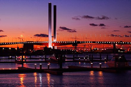 The Bolte Bridge is part of the CityLink tollway system. Bolte bridge dusk.jpg