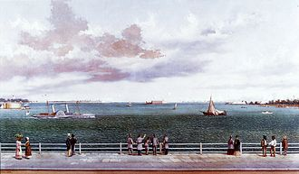 Second Battle of Fort Sumter - Bombardment of Fort Sumter, Charleston Harbor, Charleston, South Carolina, 1863, William Aiken Walker, 1886, Gibbes Museum of Art
