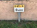 Borne Km 0.010 Route D47a Vonnas 1.jpg
