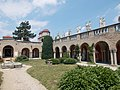 Bory Castle. Hundred column's yard. NE corner. - 54, Máriavölgy Rd., Öreghegy, Székesfehérvár, Fejér county, Hungary.JPG