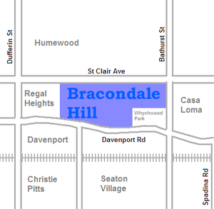 Bracondale Hill - Image: Bracondale map