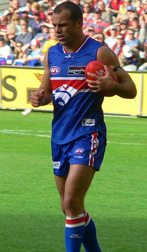 Brad Johnson (Australian footballer) - Brad Johnson preparing to kick for goal during the 2007 AFL season