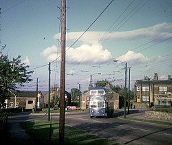 Bradford Trolleybus at Clayton (Town End) - geograph.org.uk - 1564170.jpg