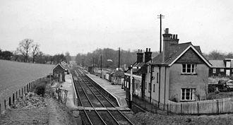 Braughing - Braughing Station in 1961