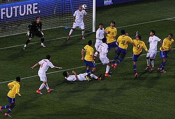 Brazil %26 Chile match at World Cup 2010-06-28 1