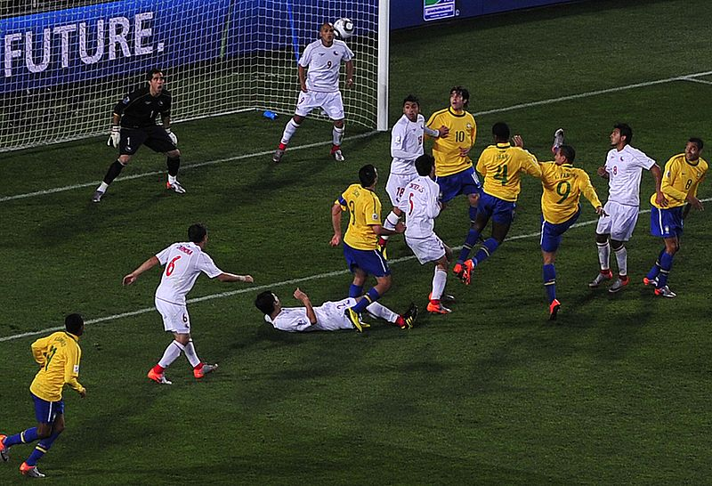 File:Brazil & Chile match at World Cup  2010-06-28 1.jpg