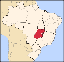 Location of State of Goiás in Brazil
