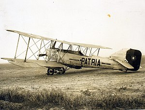 Portuguese Air Force - Portuguese Military Aeronautics Breguet 16 biplane bomber Pátria, used by Army aviators Sarmento de Beires, Brito Pais and Manuel Gouveia in the first aerial connection between Lisbon and Macau in 1924.