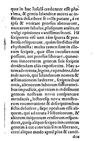 Brevis commentarius de Islandia - Page of the book.