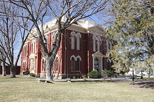 National Register of Historic Places listings in Brewster County, Texas - Image: Brewster County Courthouse Alpine, TX