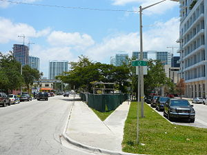 Brickell Flatiron - The smaller lot during initial pre-construction in 2008, stalled by housing market crash.