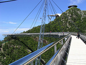 Langkawi Sky Bridge - A view of the walkway